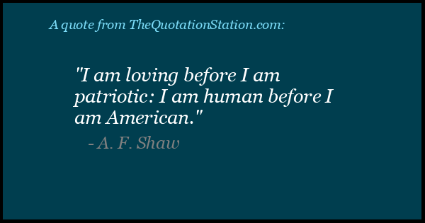 Click to Share this Quote by A F Shaw on Facebook
