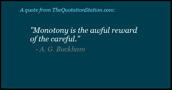 Click to Share this Quote by A G Buckham on Facebook