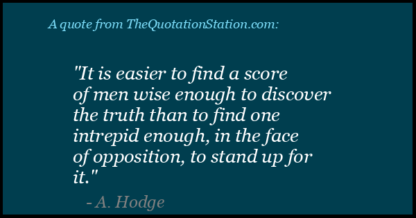 Click to Share this Quote by A Hodge on Facebook