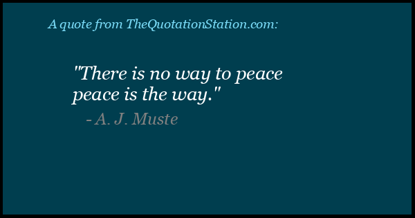 Click to Share this Quote by A J Muste on Facebook
