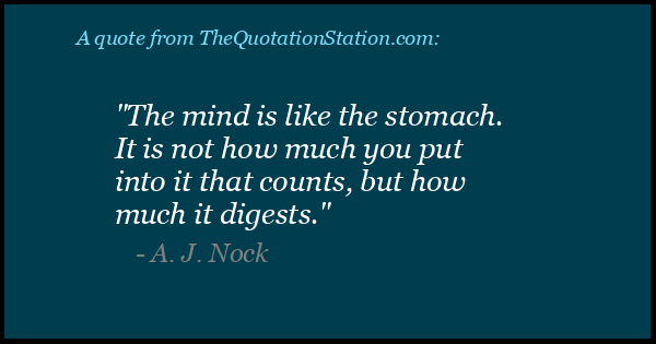 Click to Share this Quote by A J Nock on Facebook