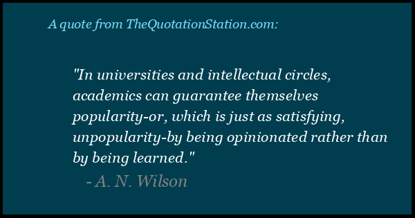 Click to Share this Quote by A N Wilson on Facebook