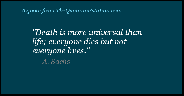 Click to Share this Quote by A Sachs on Facebook