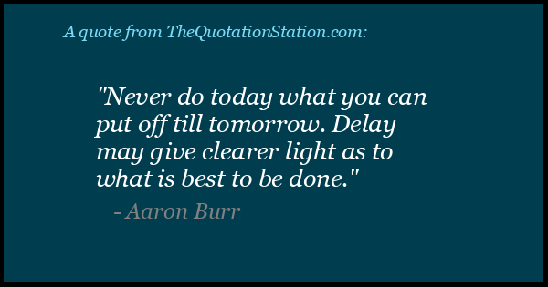 Click to Share this Quote by Aaron Burr on Facebook