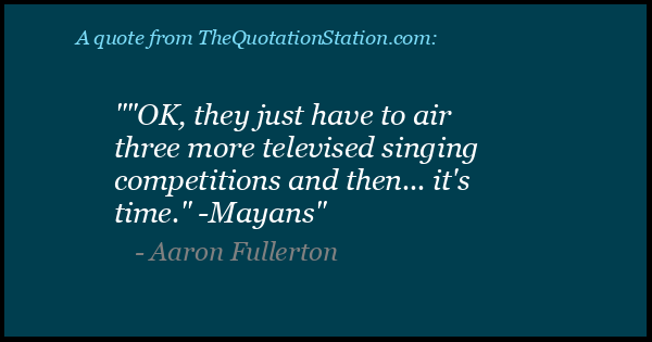 Click to Share this Quote by Aaron Fullerton on Facebook