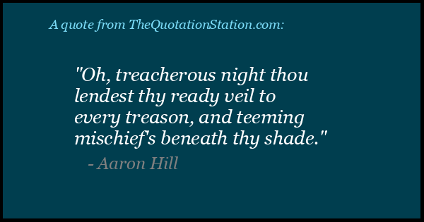 Click to Share this Quote by Aaron Hill on Facebook