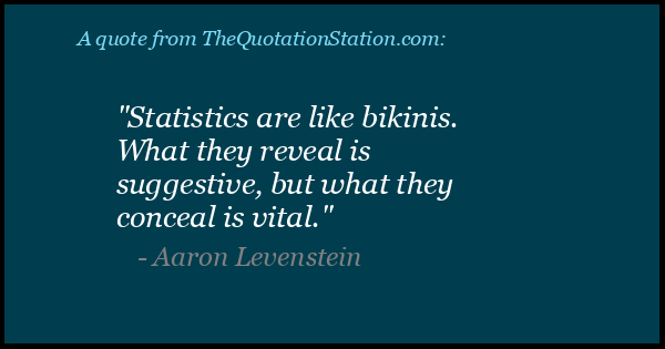 Click to Share this Quote by Aaron Levenstein on Facebook