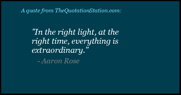 Click to Share this Quote by Aaron Rose on Facebook
