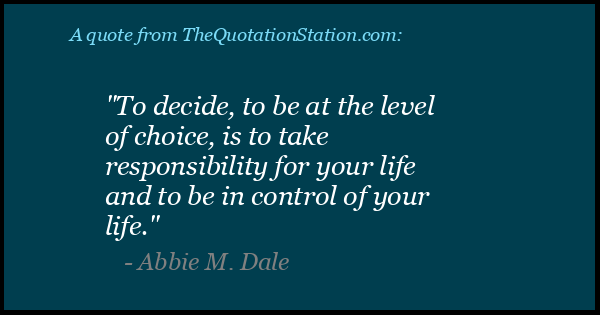 Click to Share this Quote by Abbie M Dale on Facebook