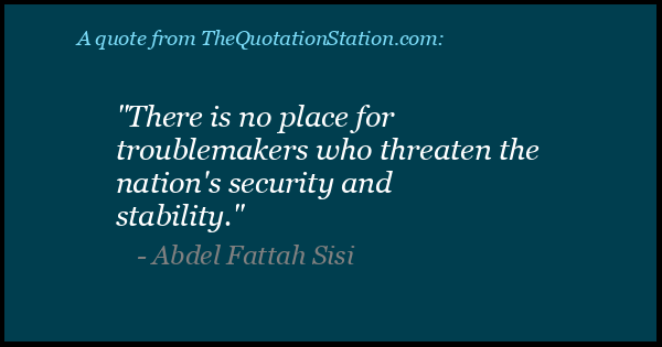 Click to Share this Quote by Abdel Fattah Sisi on Facebook