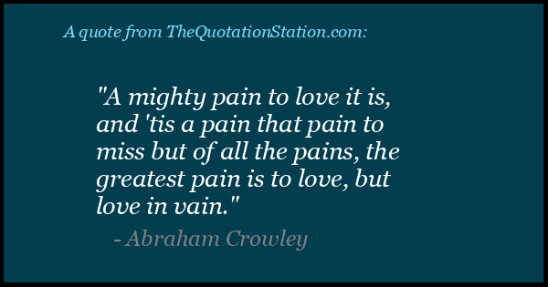 Click to Share this Quote by Abraham Crowley on Facebook