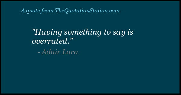 Click to Share this Quote by Adair Lara on Facebook