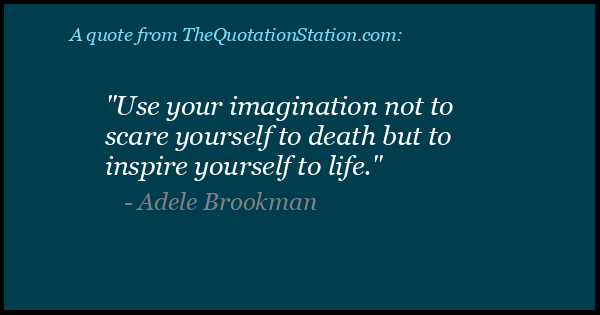 Click to Share this Quote by Adele Brookman on Facebook