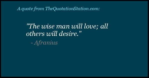 Click to Share this Quote by Afranius on Facebook
