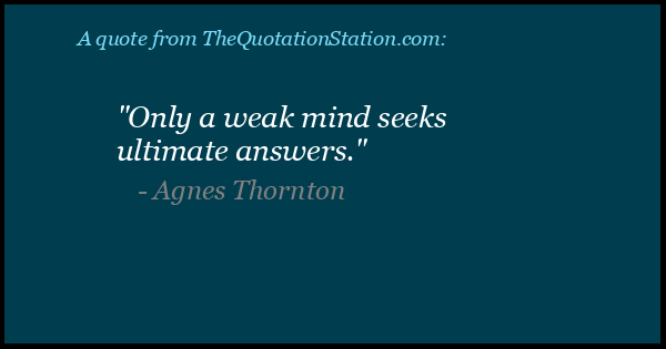 Click to Share this Quote by Agnes Thornton on Facebook
