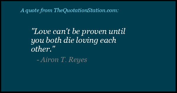 Click to Share this Quote by Airon T Reyes on Facebook