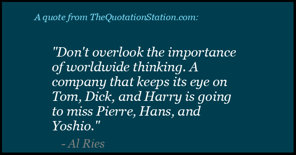 Click to Share this Quote by Al Ries on Facebook