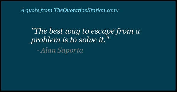 Click to Share this Quote by Alan Saporta on Facebook