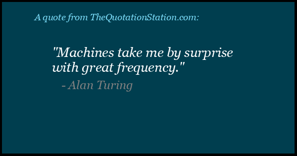 Click to Share this Quote by Alan Turing on Facebook