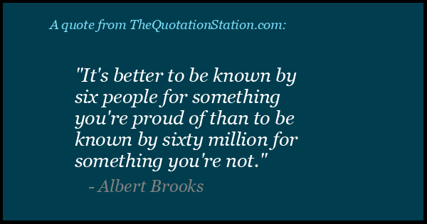 Click to Share this Quote by Albert Brooks on Facebook