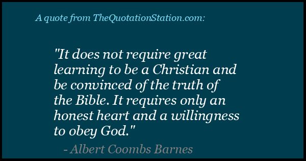Click to Share this Quote by Albert Coombs Barnes on Facebook