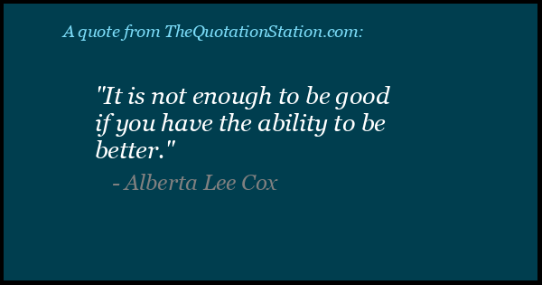 Click to Share this Quote by Alberta Lee Cox on Facebook