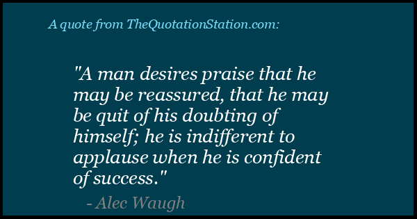 Click to Share this Quote by Alec Waugh on Facebook