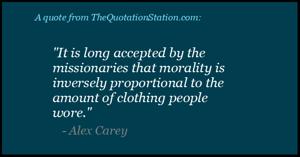 Click to Share this Quote by Alex Carey on Facebook