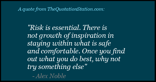 Click to Share this Quote by Alex Noble on Facebook