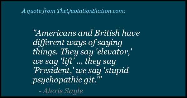 Click to Share this Quote by Alexis Sayle on Facebook