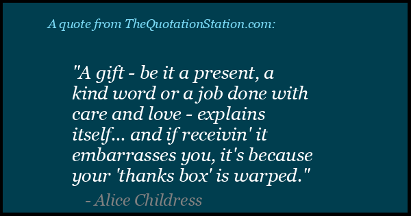 Click to Share this Quote by Alice Childress on Facebook