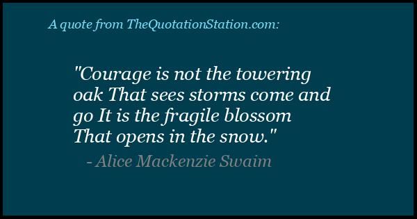 Click to Share this Quote by Alice Mackenzie Swaim on Facebook