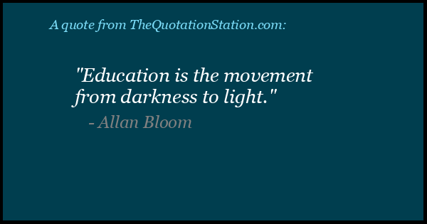 Click to Share this Quote by Allan Bloom on Facebook
