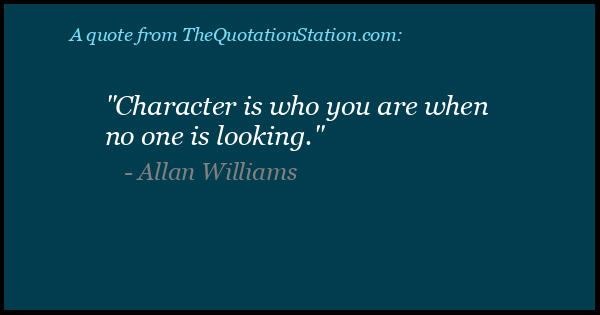 Click to Share this Quote by Allan Williams on Facebook