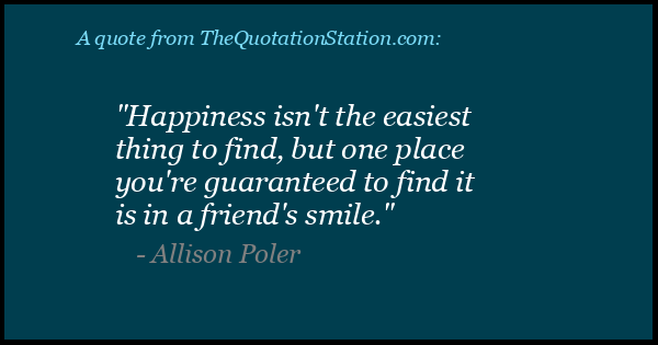 Click to Share this Quote by Allison Poler on Facebook