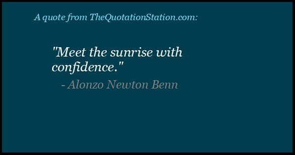 Click to Share this Quote by Alonzo Newton Benn on Facebook