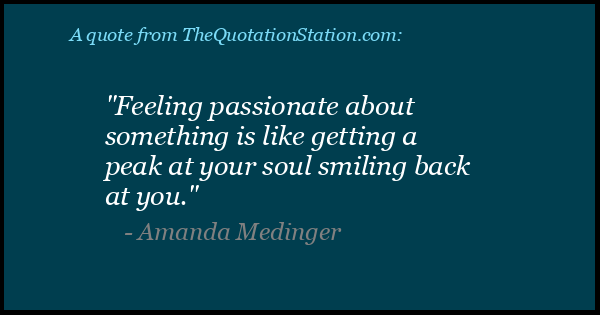 Click to Share this Quote by Amanda Medinger on Facebook