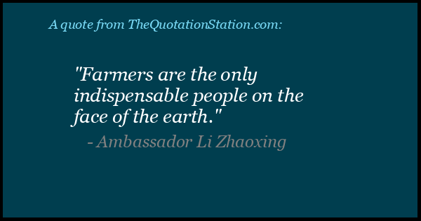 Click to Share this Quote by Ambassador Li Zhaoxing on Facebook