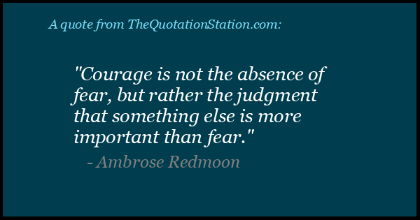 Click to Share this Quote by Ambrose Redmoon on Facebook