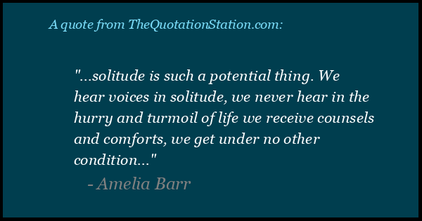 Click to Share this Quote by Amelia Barr on Facebook