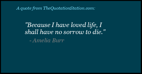 Click to Share this Quote by Amelia Burr on Facebook
