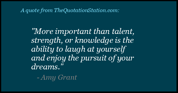Click to Share this Quote by Amy Grant on Facebook