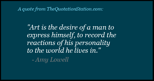 Click to Share this Quote by Amy Lowell on Facebook