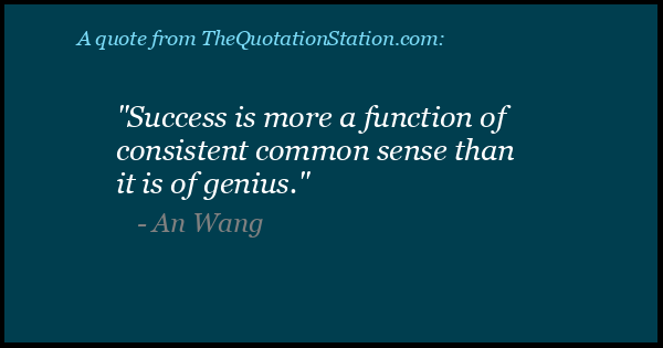 Click to Share this Quote by An Wang on Facebook