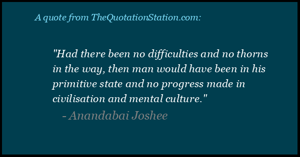 Click to Share this Quote by Anandabai Joshee on Facebook