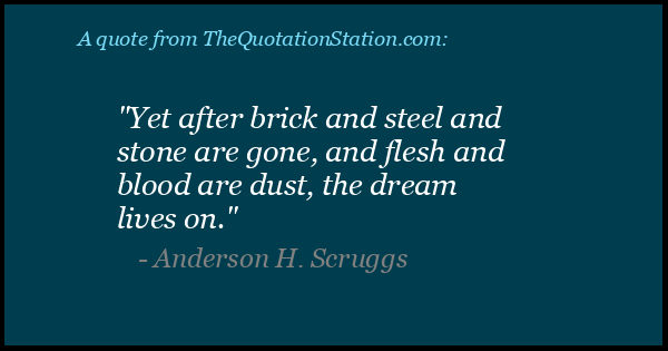 Click to Share this Quote by Anderson H Scruggs on Facebook