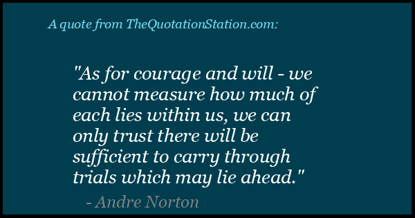 Click to Share this Quote by Andre Norton on Facebook