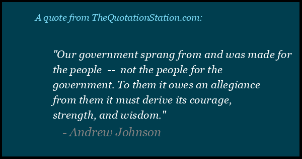 Click to Share this Quote by Andrew Johnson on Facebook