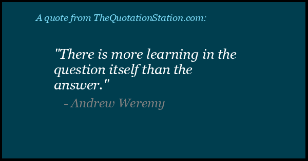 Click to Share this Quote by Andrew Weremy on Facebook