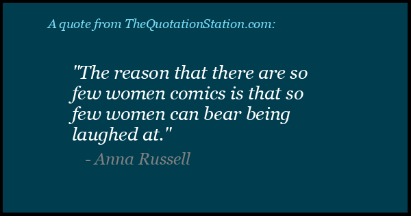 Click to Share this Quote by Anna Russell on Facebook